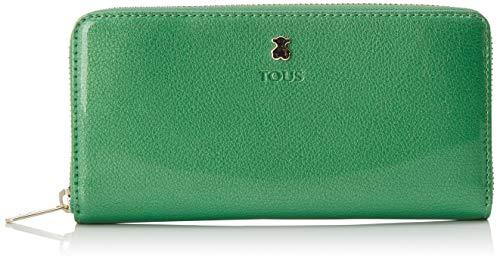 TOUS 995960399, Monedero para Mujer, Verde (Verde), 19.5x11x2 cm (W x H x L)