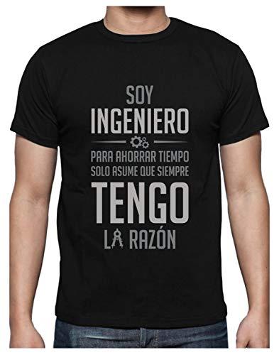 Green Turtle T-Shirts Camiseta para Hombre - Regalos para Ingenieros - Soy Ingeniero Asume Que Siempre Tengo la Razón Medium Negro