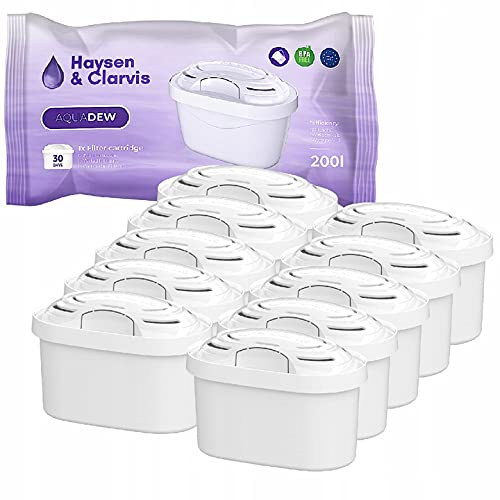 Haysen & Clarvis Wasserfilter Kartuschen Kompatibel mit Brita Maxtra, PearlCo, BWT, Dafi, AmazonBasics (10er Pack)