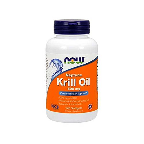 NOW Supplements, Neptune Krill Oil 500 mg, Phospholipid-Bound Omega-3, Cardiovascular Support*, 120 Softgels