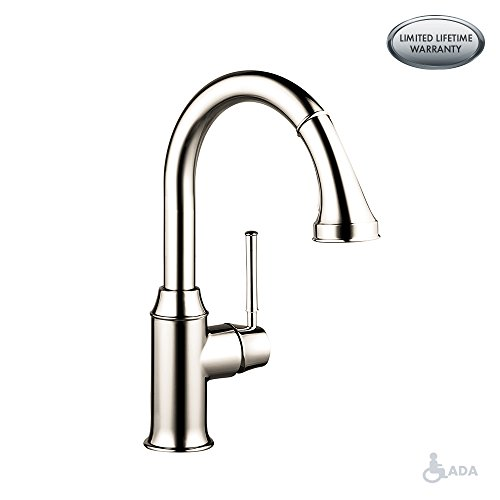 hansgrohe Talis C Premium 1-Handle 15-inch Tall Kitchen Faucet with Pull Down Sprayer with...