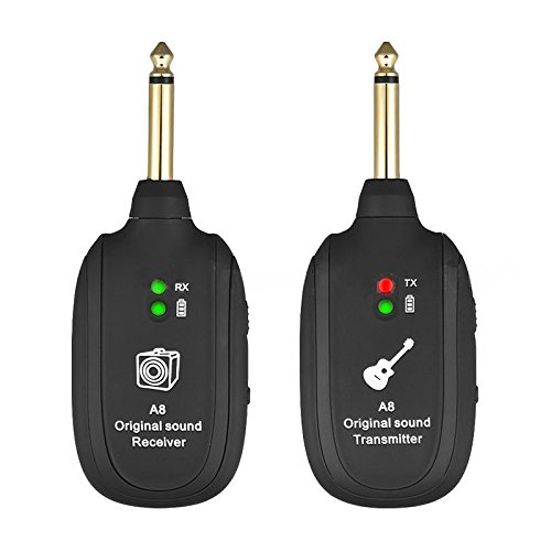 SODIAL Ricevitore del trasmettitore del sistema wireless per chitarra UHF ricaricabile
