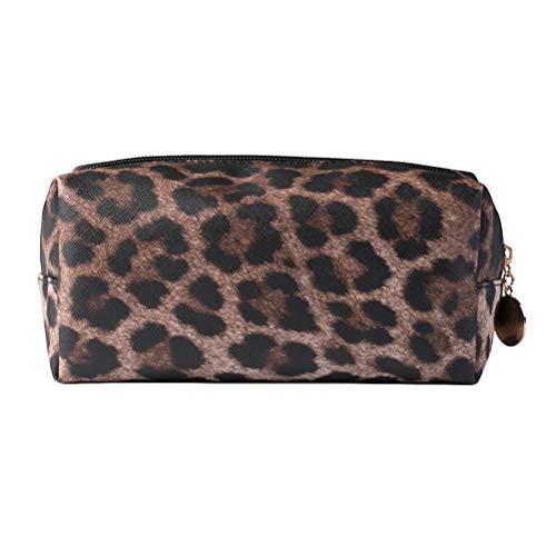 Tendycoco - Bolsa Maquillaje Cuadrada Estampado Leopardo