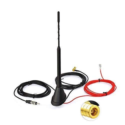 Bingfu DAB+ Autoradio Antenne Splitter SMB Stecker auf DIN Adapter DAB FM/AM Dachantenne Singal Empfänger Verstärker mit 5m Verlängerungskabel Kompatibel mit Jvc Pioneer Kenwood Alpine Clarion MEHRWEG