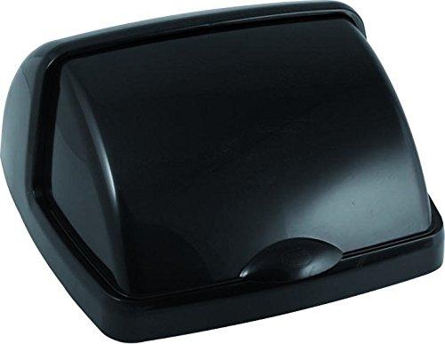 Addis, gris métallisé, 50 litre, Plastique, noir, 38.5x33.5x19 cm,Poubelle (Roll Top)