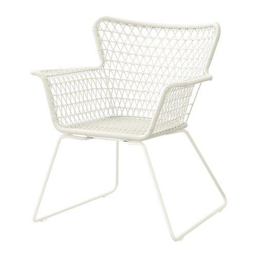 IKEA HOGSTEN–Stuhl mit Armlehnen, weiß