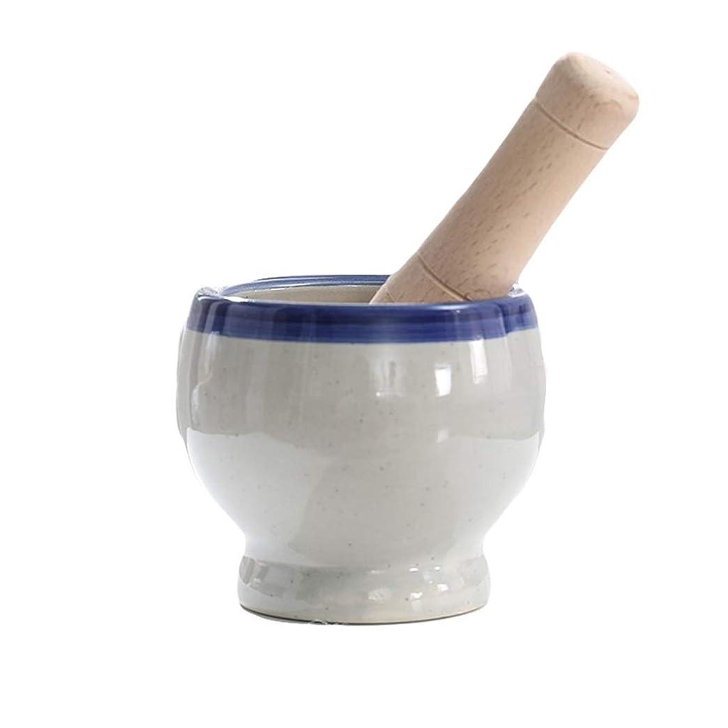カウントアップ十ほとんどの場合乳棒?乳鉢 レトロ乳鉢と乳棒セット、セラミックス、昔ながらのホーム (Color : C, Size : 11x10cm)