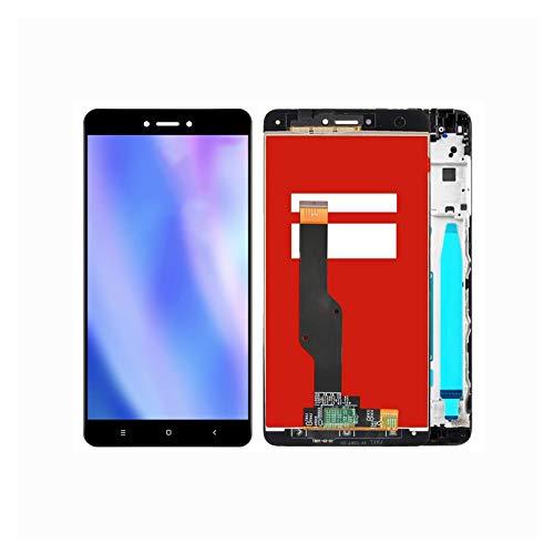 Ajuste De La Pantalla del Teléfono Fit For Xiaomi Redmi Note 4X Pantalla + para Redmi Note 4 Versión Global Solo para Snapdragon 625 (Color : Black with Frame)