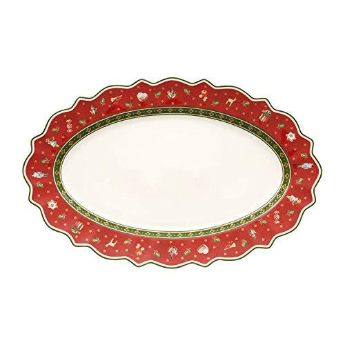 Villeroy & Boch Toy's Delight Plat de service ovale, Porcelaine Premium, Rouge