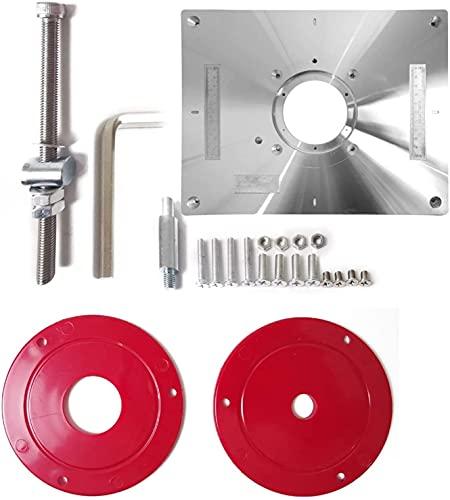 LXNQG Mesa de enrutador de Aluminio Inserción Placa Herramienta de carpintería Máquina Multifuncional Recortadora de molienda Máquina de Grabado Herramienta de Placa enrutador (Color: Plata)