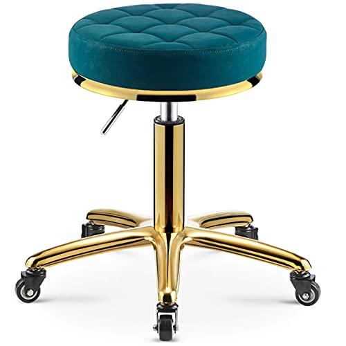 Home Sattelhocker Ergonomischer Sattelhocker Massagerollstuhl für Salon Küche Spa Verstellbarer hydraulischer Hocker auf Rädern (Farbe : Braun)