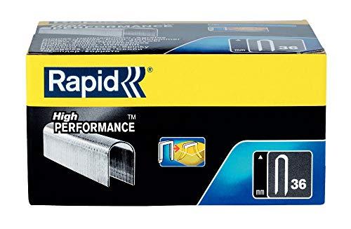 Rapid, 11886910, Agrafes en fil plat N°36, Longueur 14mm, 5000 pièces, Pour la fixation de câble, Fil galvanisé, Haute performance