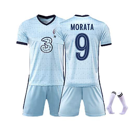 YUUY Alvaro Morata # 9 Trikot Fußballuniformen für Männer, einschließlich Kinder und Erwachsene Aller Größen (Color : A, Size : Adult-2XL)