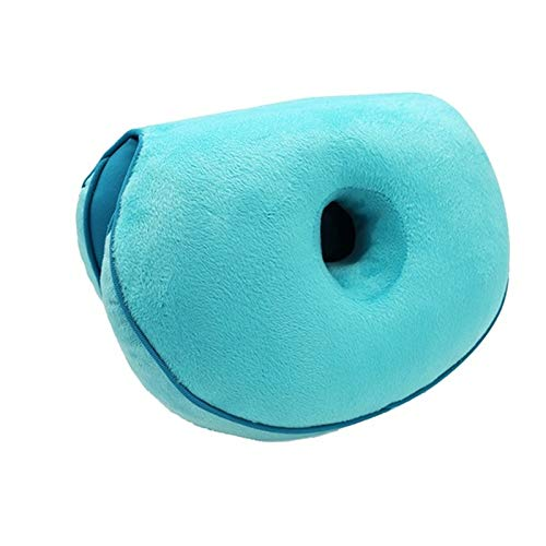 DZHTSWD Cushion Lift Hips Up Seat Pad Cushion, Foldable Orthopedic Memory Foam Support Pad for Sciatica, Hip-lifting Cushion Pad, for Car Interior Office (Color : Blue)