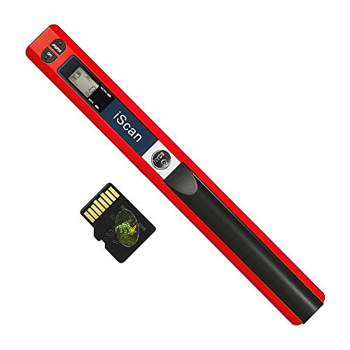 Portable Handheld Wand Wireless Scanner A4 Size 900DPI JPG/PDF Formate LCD Display with Protecting Bag and 8GB TF Card for Business Document Reciepts Books Images