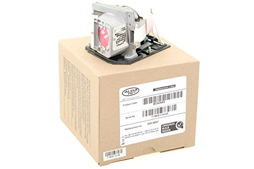 Alda PQ Profesional, Lámpara de proyector/Repuesto 330-9847/725-10225 para DELL S300, S300w, S300wi Proyectores, lámpara de Marca con PRO-G6s Caja/Montura