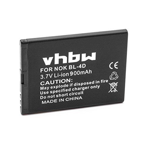 vhbw Li-Ion Akku 900mAh (3.7V) für Handy Smartphone Telefon Binatone Speakeasy 600Fly wie BL-4D.