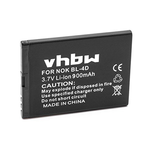 vhbw Li-Ion Akku 900mAh (3.7V) für Handy Smartphone Telefon Simvalley ZX-2902-675, RX-800 wie PX-3884-675