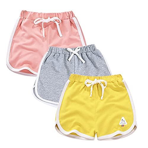 Rolanko Pantaloncini Sportivi Cotone da Bambina, Pantaloni Corti da Corsa Estivo, Abbigliamento...