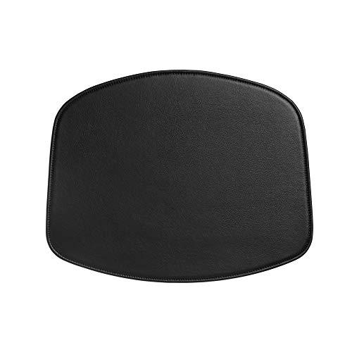 HAY About A Chair AAC Sitzkissen für Stuhl, schwarz Leder LxBxH 48x39x0,5cm