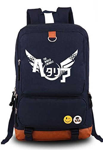 Siawasey Hetalia Axis poteri anime Cosplay luminoso zaino messenger bag scuola borsa