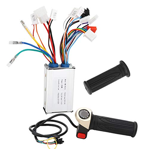 Jeanoko Controlador de velocidad sin escobillas para bicicleta eléctrica, batería de litio,...