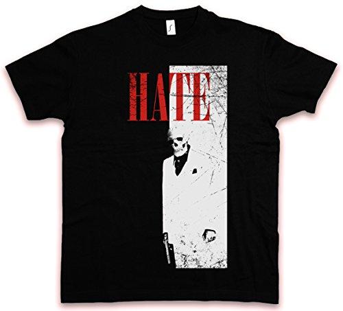 Hate Couture Hate FACE HC T-Shirt - Al Tony Pacino Mafia Montana TM Scarface Shirt Größen S - 5XL (S)