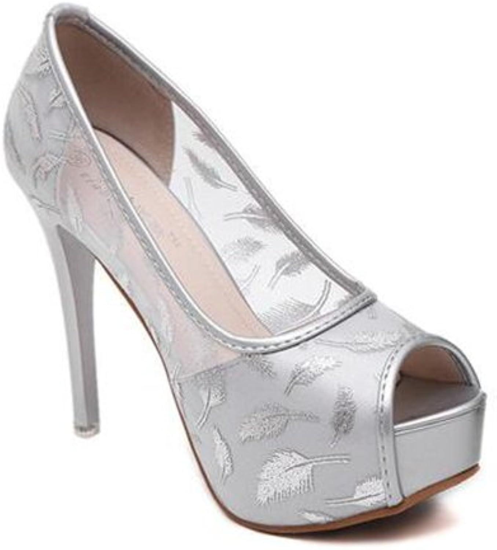 Cloudless 2018 Women Pumps Peep Toe Rhinestones Platform High Heel Satin Dress shoes