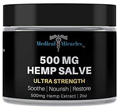 Medical Miracles Hemp 500 Mg Ultra Strength Healing Salve | 100% Natural Cream Relieves Inflammation, Muscle, Joint, Knee, Nerve, Arthritis Aches & Pain | Fast Acting, Maximum Power, Quick Relief by Medical Miracles