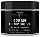 Medical Miracles Hemp 500 Mg Ultra Strength Healing Salve | 100% Natural Cream Relieves Inflammation, Muscle, Joint, Knee, Nerve, Arthritis Aches & Pain | Fast Acting, Maximum Power, Quick Relief
