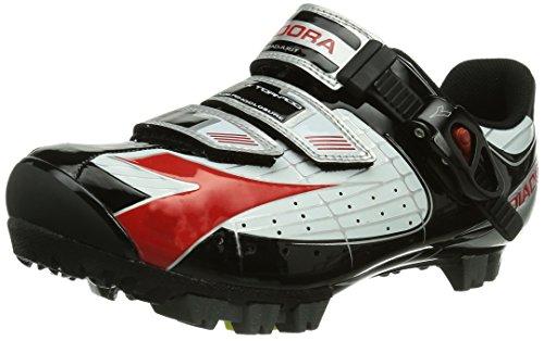 Diadora X TORNADO, Unisex-Erwachsene Radsportschuhe - Mountainbike, Weiß (weiß/schwarz/rot 1470), 45 EU