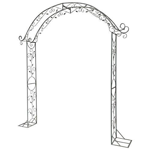 LLZH Arco para Rosas Vintage, Pergolas de Jardin para Varias Plantas Trepadoras, Puerta Jardin Metalica