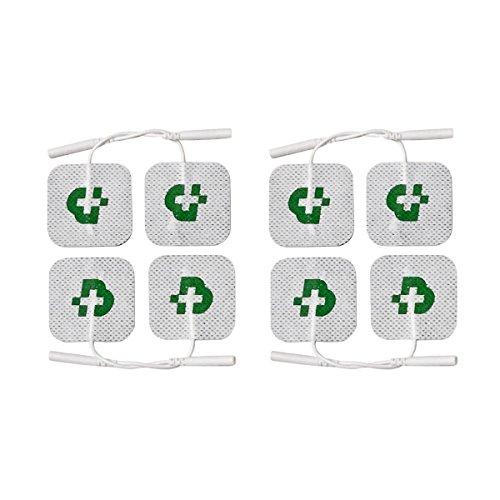8 electrodos Tesmed para electroestimulador mm. 50 x 50, universales, lavables, no es necesario el gel.