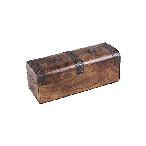Noble Cassapanca in legno marrone in legno 20x 7,5x 7,5cm contenitore Cassapanche