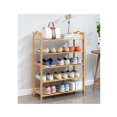 HYAN Zapatero 3/4/5/6 Niveles Zapato de Zapatos Bambú Zapato Almacenamiento Estante Organizador para Entrada Casa Sala de Estar Balcón Pasillo Caja de Zapatos (tamaño : 90cm(5-Tiers))