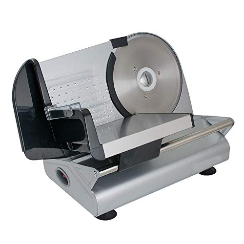 """Meat Slicer,7.5"""" Blade Commercial Electric Stainless Steel Deli Food Slicer Blade Deli Cheese Food Cutter Restaurant with Adjustable Knob for Thickness and Home Use,US SHIPPING"""