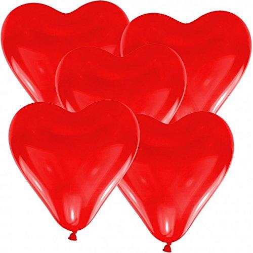 ballon boutique Villingen 50 Herz Luftballons 30cm Durchmesser Rot