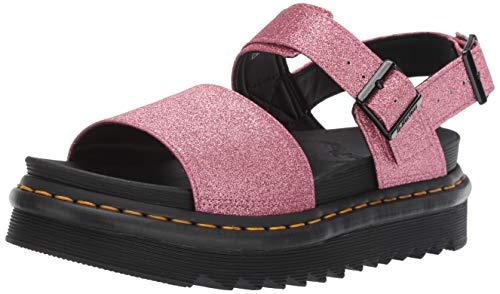 Dr. Martens Damen Voss Slingback Sandalen, Pink Pink Pink Fine Glitter PU 650, 37 EU