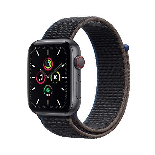 Apple Watch SE(GPS + Cellularモデル)- 44mmスペースグレイアルミニウムケースとチャコールスポーツループ