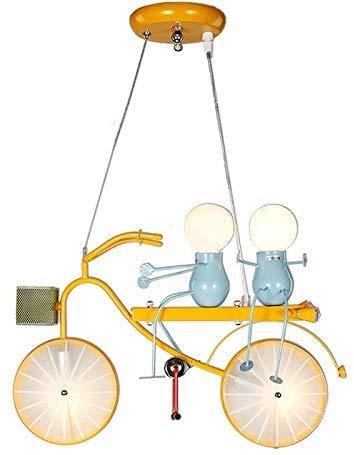RUNMIND Dibujos Animados de niños Personalidad de la Bicicleta Tandem Bicicleta Chica Girl Walker Dormitorio Luces Colgantes Luces de Colores