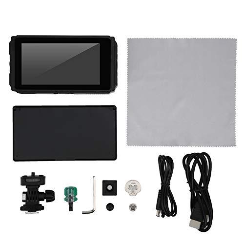 E50 Monitor de Campo de cámara con Pantalla táctil IPS HDMI de 5 Pulgadas Monitor de Salida de Entrada HDMI 4K 2500 Nit Pequeño Monitor de cámara de Pico Full HD 1920 x 1080 IPS