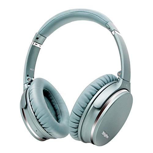 Hybrid Active Noise Cancelling Kopfhörer,Faltbar,Kabellos,Bluetooth 5.0,Srhythm NC35 Over-Ear mit USB-C Schnellladung,CVC8.0-Mikrofon,Sprachanruf,40+ Std. kompatibel für iOS Android TV PC (Minzgrün)