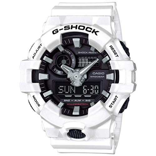 Casio Men's G Shock GA700-7A White Resin Japanese Quartz Diving Watch