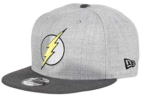 New Era The Flash 9fifty Snapback Cap Comic Graphite Heather Graphite - One-Size