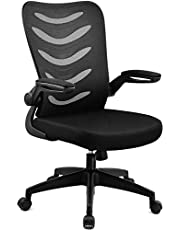 COMHOMA Office Desk Chair with Armrest Office Computer Chairs Ergonomic Conference Executive Manager Work Chair (Black)