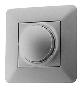 Variateur rotatif compatible LED 16A Titanium - Artezo