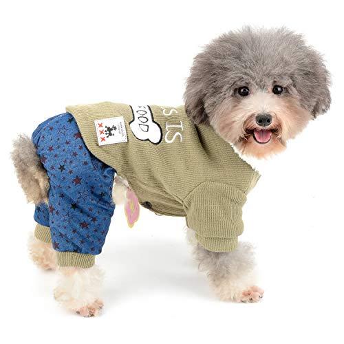 Zunea Suéter para perro de mascota con forro polar cálido para...