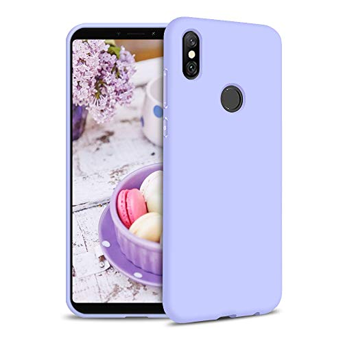 Funda para Xiaomi Redmi S2 Carcasa Silicona Xiaomi Redmi S2, Silicona Gel TPU Case Goma Colores del Caramelo Anti-Rasguño Resistente Ultra Suave Protectora Caso - Morado Claro