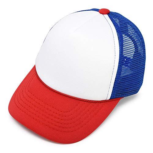 DALIX Infant Trucker Hat Baby Cap Tiny Extra Small Boys Red White Royal Blue
