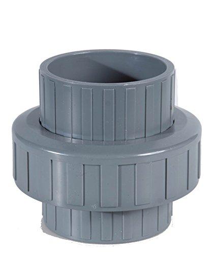EXCOLO PVC Rohre und Fitting Ø 40 mm Fitting Winkel Kniestück Adapter Muffen T-Stück Kappen (1 x Verschraubung)